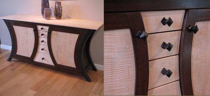 Hayden's Curved Sides cabinet