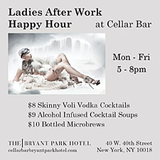 Ladies After Work Happy Hour at Cellar Bar