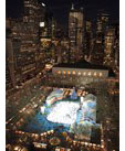 Overhead view of Bryant Park