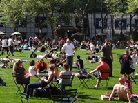 Spring is Here: Bryant Park Lawn Opens