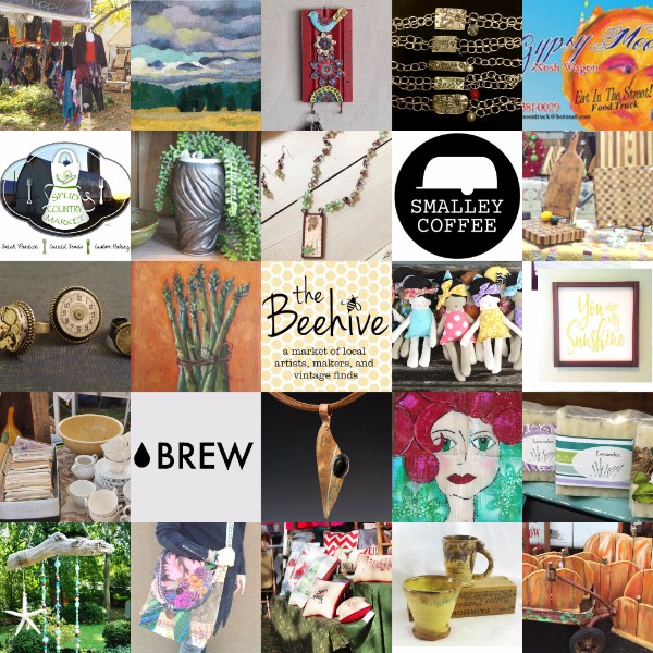 Beehive 2016 Artists Collage of 25
