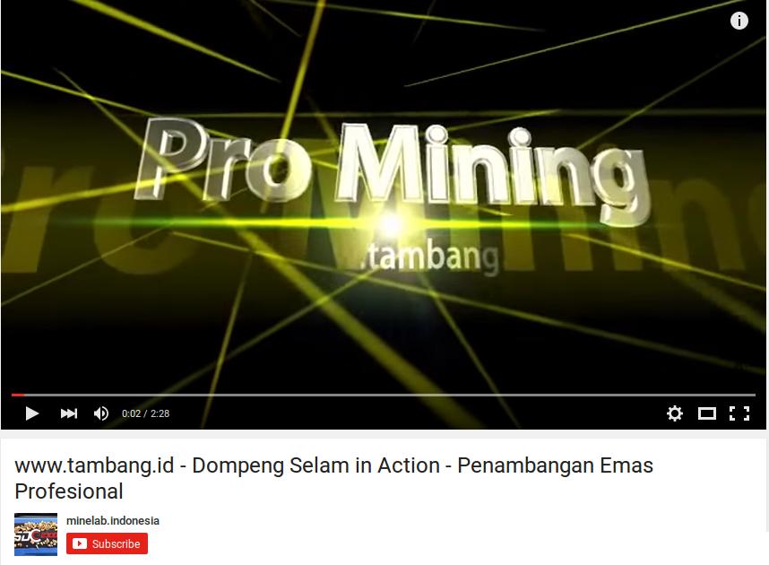 www.tambang.id - Dompeng Selam  in Action - Penambangan Emas Profesional