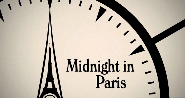 Midnight in Paris (on a clock)