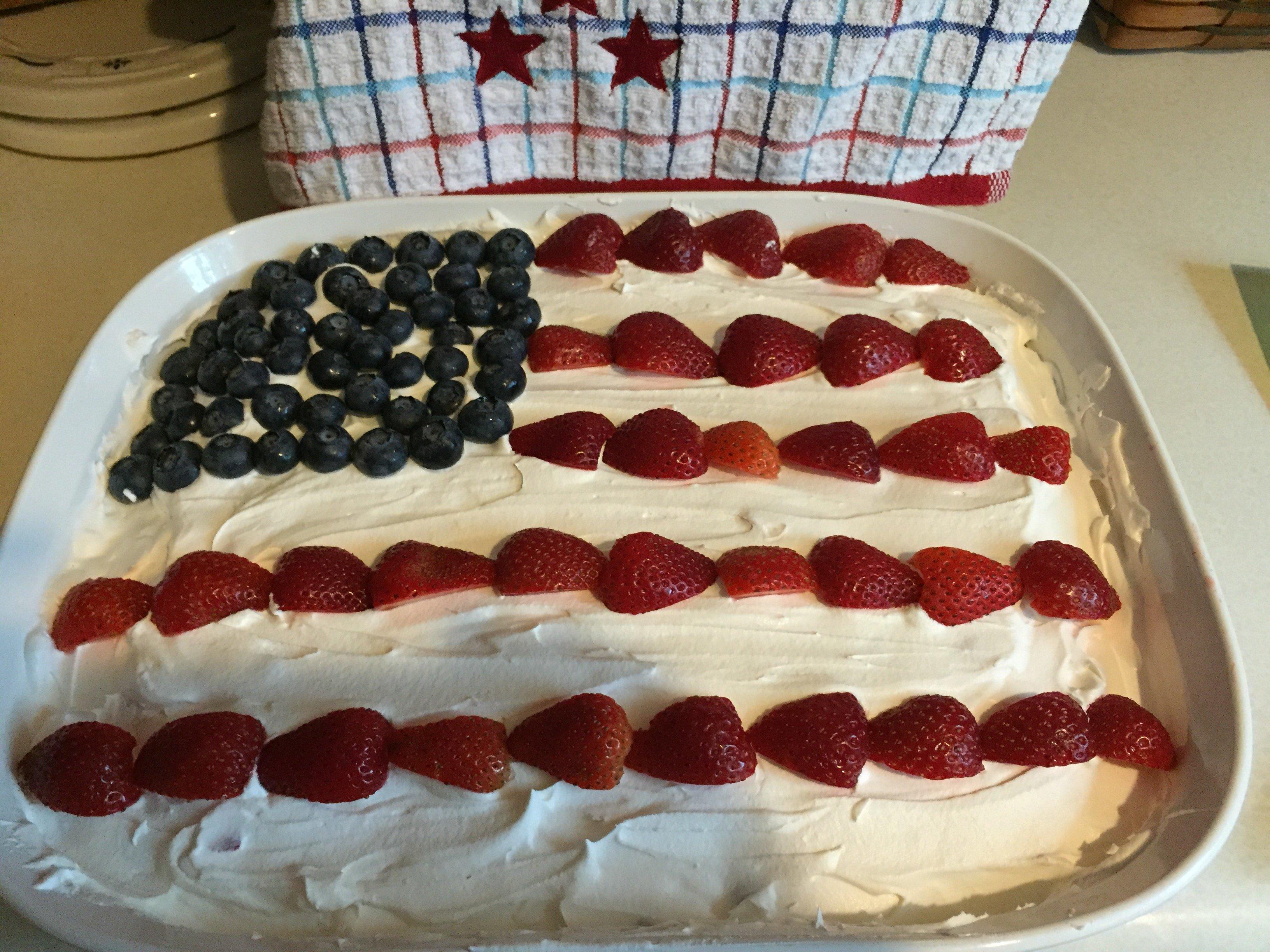 Flag Pound Cake