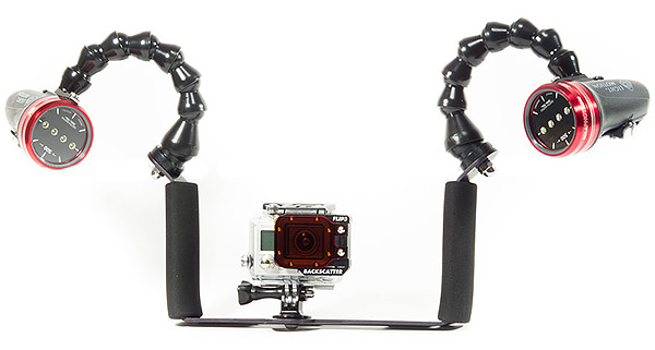 The all new Double Handle & Tray for GoPro