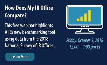 AIR Webinar - How Does My IR Office Compare?