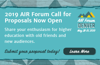 2019 AIR Forum Call for Proposals Now Open
