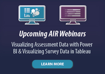 Upcoming AIR Webinars: Learn More