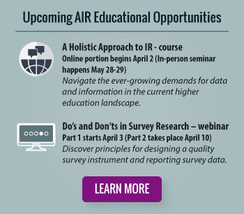 Upcoming AIR Educational Opportunities