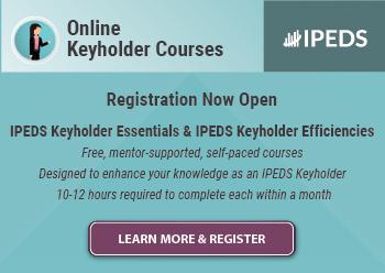 IPEDS Online Keyholder Courses