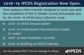 2018-19 IPEDS Registration Now Open