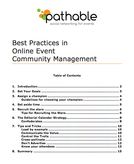 Download the Best Practices in Online Event Management Whitepaper