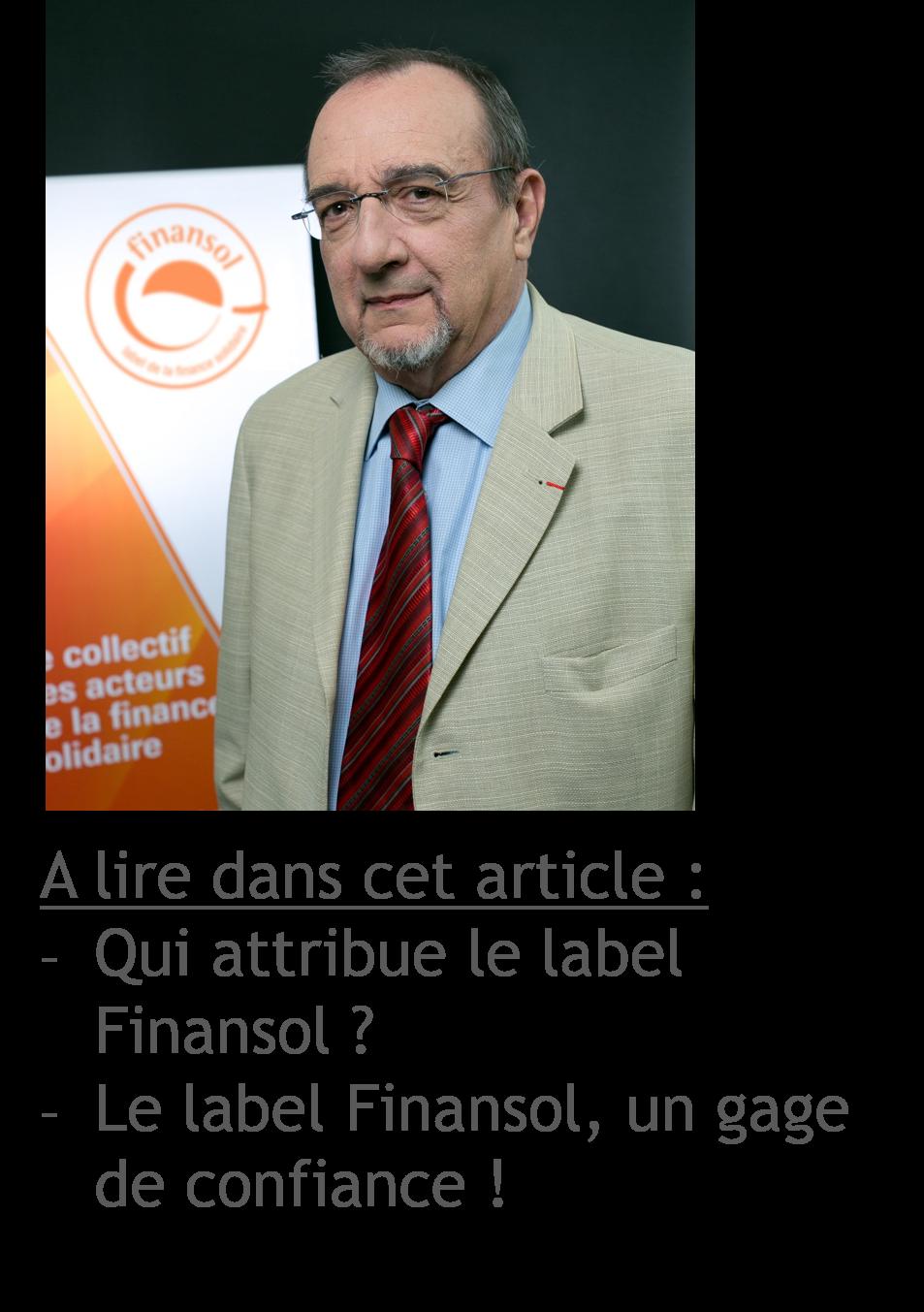 Guy Courtois quitte la présidence du Comité du label Finansol