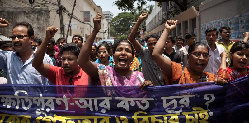 Effondrement du Rana Plaza au Bangladesh - manifestation