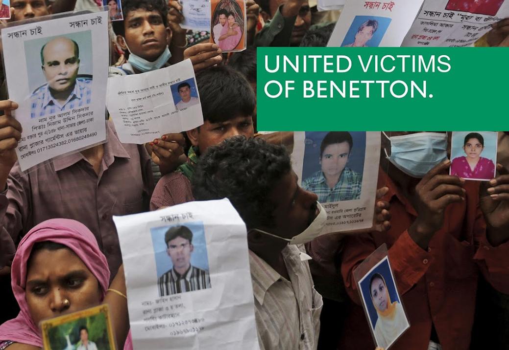 Sous la pression de l'opinion publique, Benetton consent à participer au fonds d'indemnisation pour les victimes.