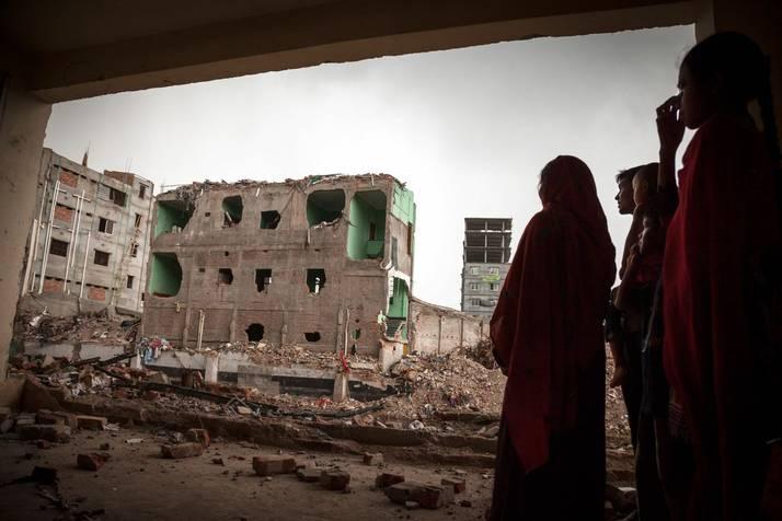 Effondrement du Rana Plaza au Bangladesh - les ruines