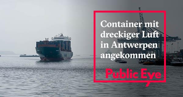 Schon bald ist der Container in der Schweiz