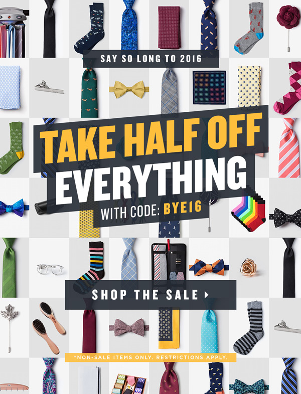 Half of Everything: End of Year Sale