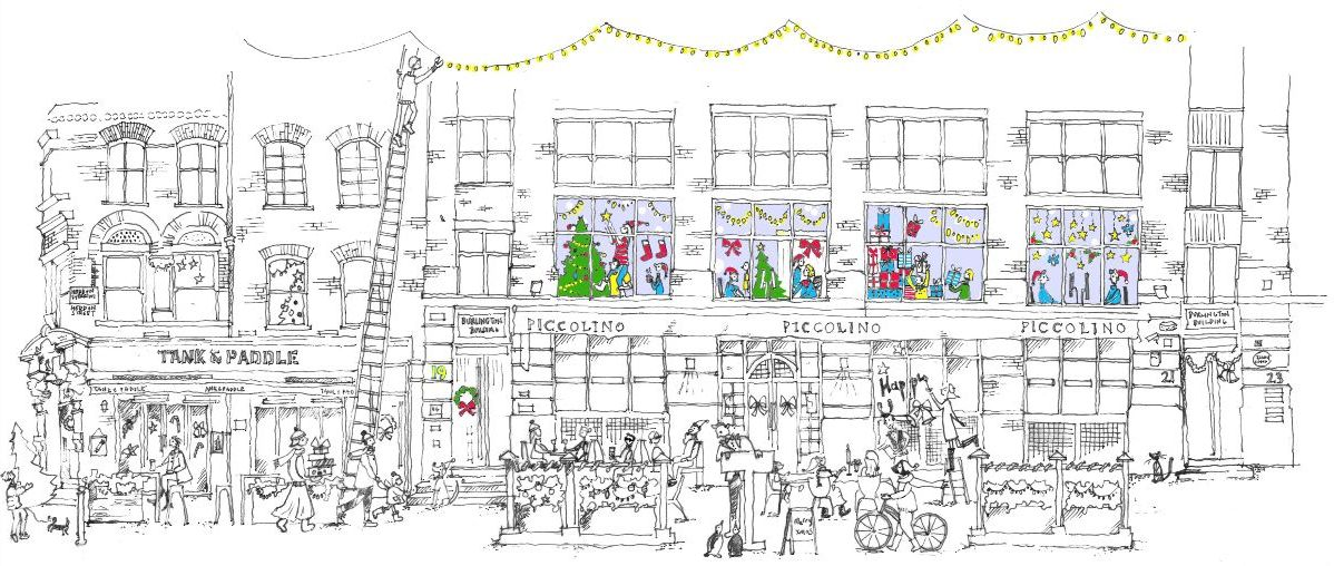 Click to see image of Christmas at 19 Heddon Street