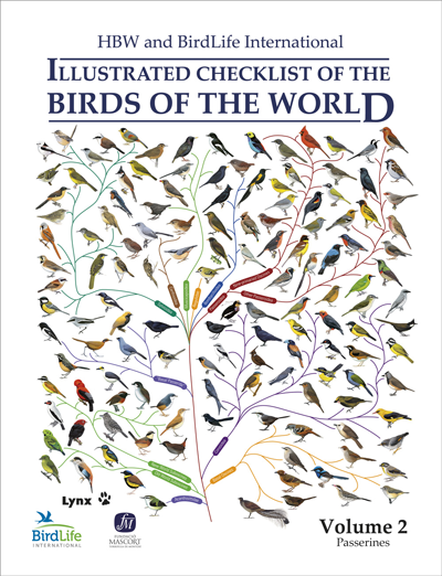 HBW and Birdlife International Illustrated Checklist of the Birds of the World, Volume 2: Passerines