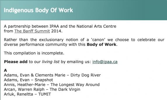 Indigenous Body Of Work