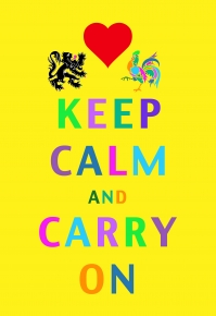 Keep Calm and Carry On by Delphine