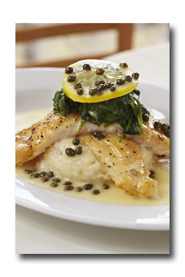 """Filet of Sole """"Grenobloise"""" at Pomme Frite"""