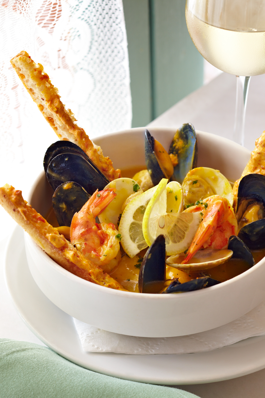 "Pomme Frite's Chef's Fisherman Stew ""Bouillabaisse"""