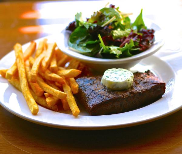 Pomme Frite's Steak - Frites - Salad for Dinner