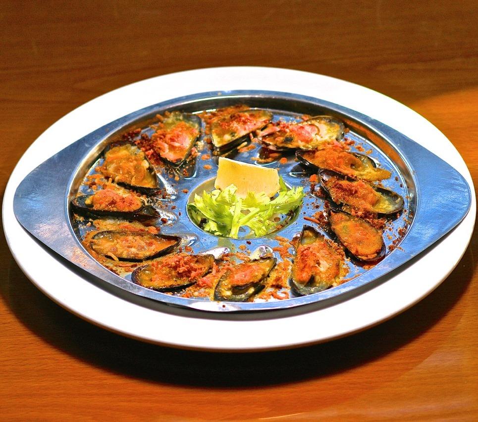 Mussels au Gratin