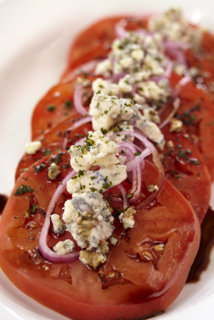 Beefsteak Tomato Salad with Bleu Cheese