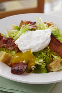 Pomme Frite's Lyonnaise Salad on the Lunch Menu