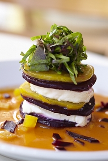 Valentine's Day Prix Fixe Menu offers Roasted Beets & Goat Cheese Napoleon