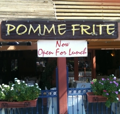 Pomme Frite Serves Lunch on Saturdays & Sundays