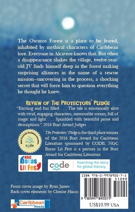 Back cover of the Protectors' Pledge