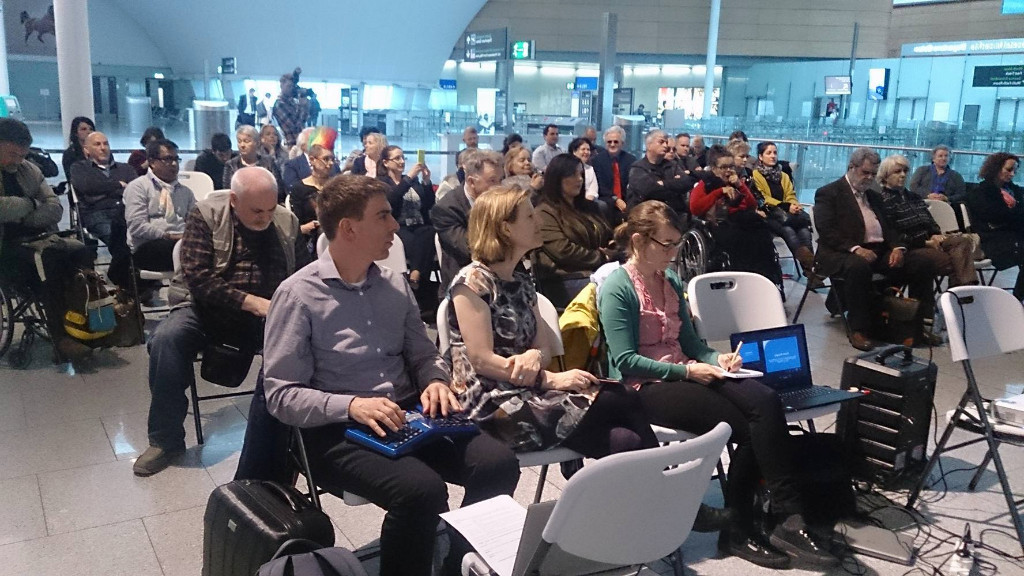 Participants of the event in Dublin Airport