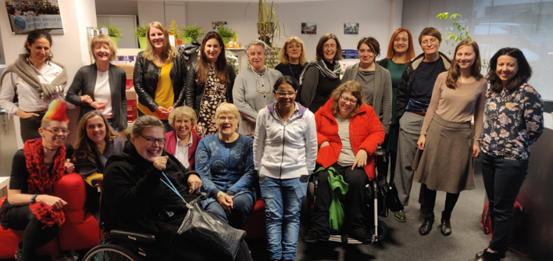 Group photo of women committee and executive of European Women's Lobby