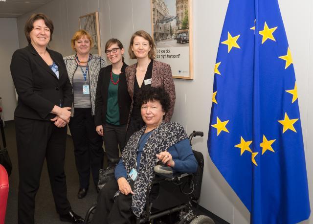 Commissioner Bulc with EDF delegation