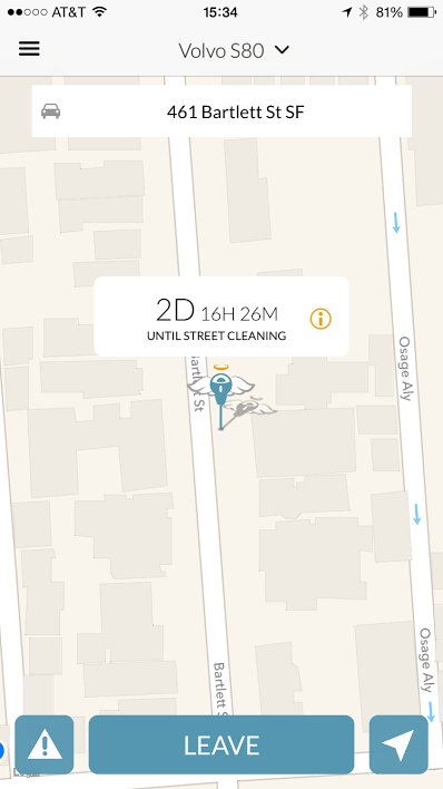 When you park, Automatic pins your location and tells Spot Angels where you are. You don't even have to look at your phone. It just works… (•_•) / ( •_•)>⌐■-■ / (⌐■_■) …automatically.