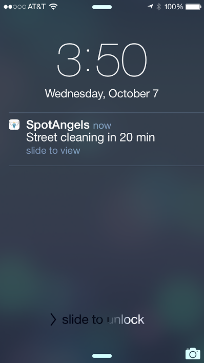 No more late night alarm-setting: Spot Angels will send you a push notification to warn you before you're going to get a ticket.