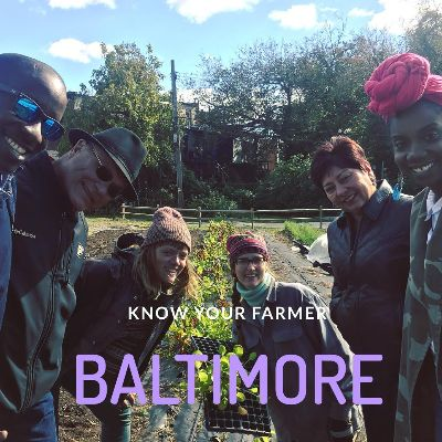 Photo: Farmers and volunteers at the Plantation Park Heights. Baltimore, 2018.