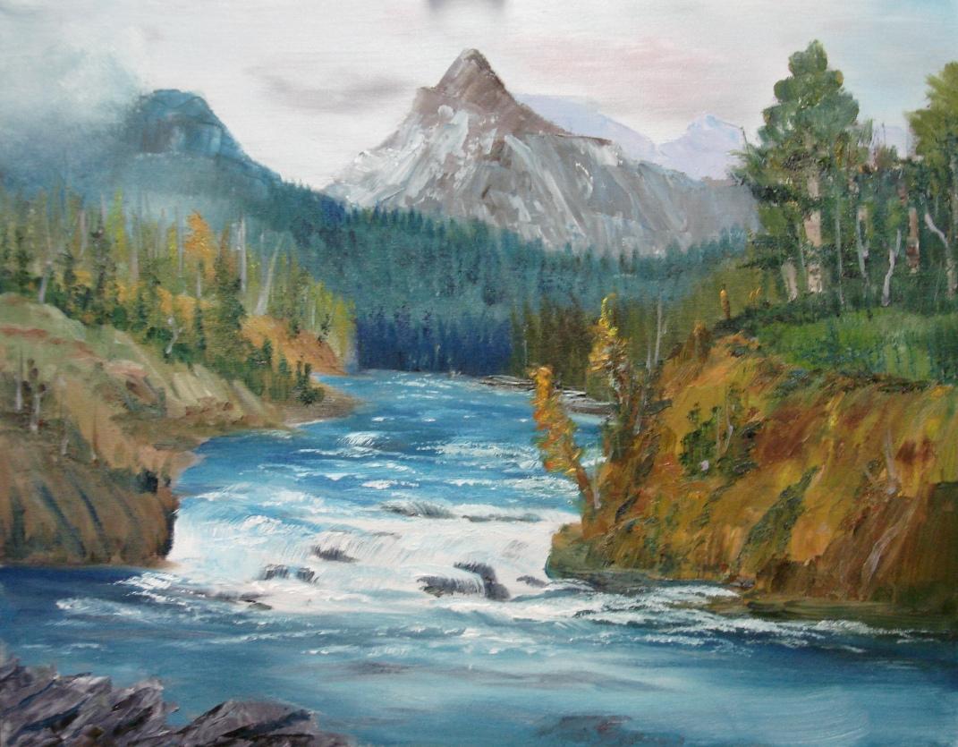 "Winter Landscape - Oil -  11"" x 14"""