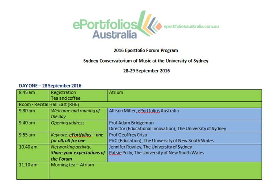 2016 Eportfolio Forum Program