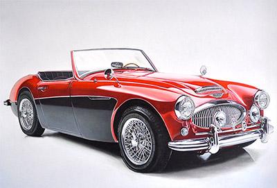 Austin Healey 3000 BT7 Roadster uit 1962