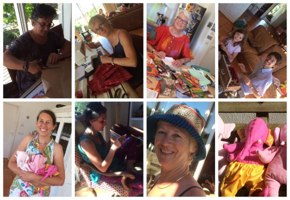 Workshop at Yolande's house