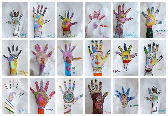 Tranquebar school Diwali light in the heart of our hands