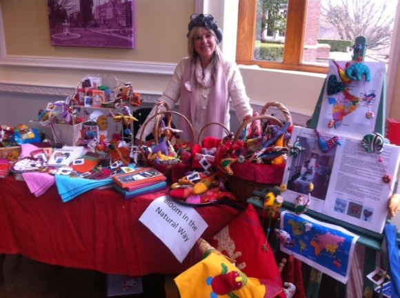 Sylvie will be happy to welcome you at the Christmas Market Saint Ronan's school Hawkhurst Kent England