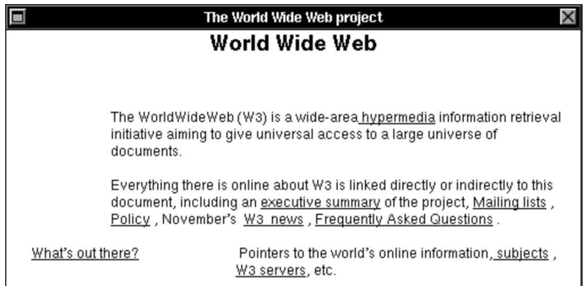 The original World Wide Web