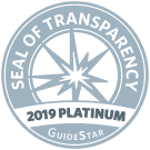 Seal of Transparency: 2019 Platinum from GuideStar
