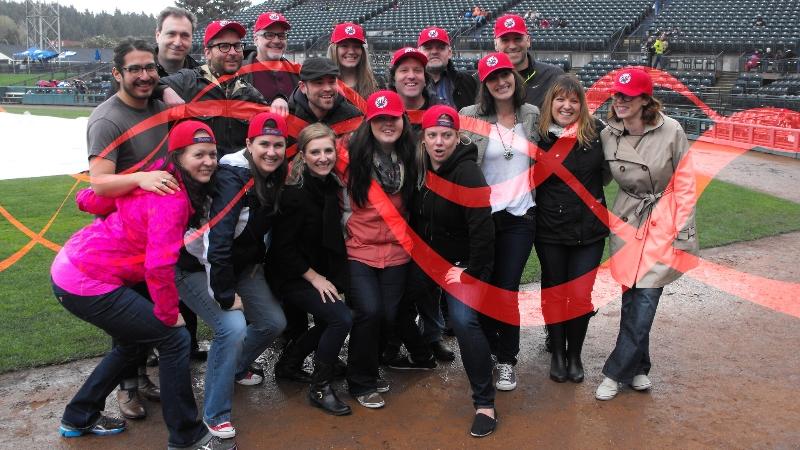 Team photo at Cheney Stadium
